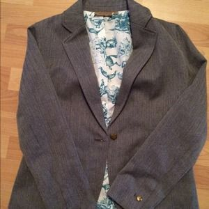Jackets & Blazers - Gray herringbone blazer - never worn