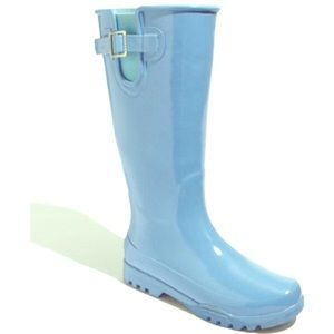 Baby blue rain boots by Sperry
