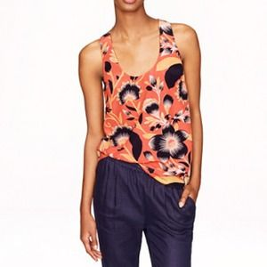 J. Crew Floral Twist-back Top.