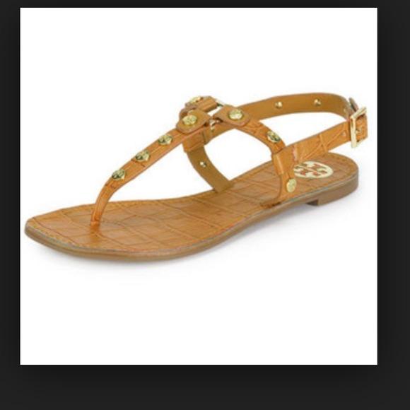 4a6da8d8616dc8 Tory Burch Shoes - Tory burch Marge studded thong sandal- royal tan