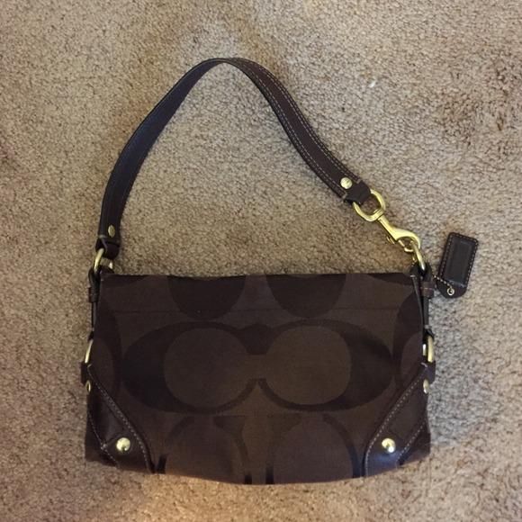4e89fa6a75e2 Coach Handbags - Coach signature Carly small shoulder bag.