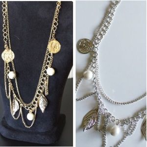 NEW Coin & Pearl Necklaces