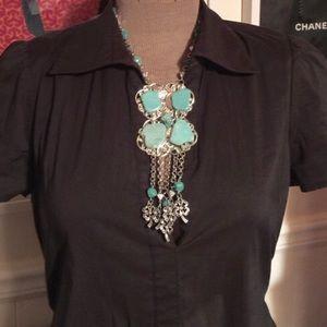 NEW Large Turquoise Boho Necklace