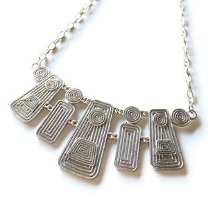 NEW Egyptian Style Silver Necklace