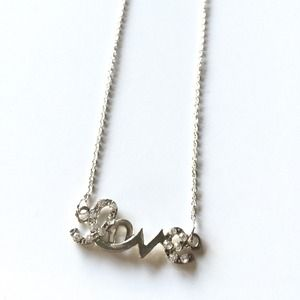 "Jewelry - NEW Dainty ""Love"" Necklace (Silver Tone)"