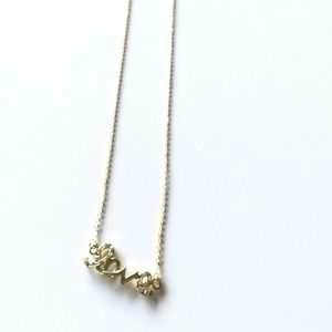 "NEW Dainty ""Love"" Necklace (Gold Tone)"