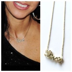 "Jewelry - NEW Dainty ""Love"" Necklace (Gold Tone)"