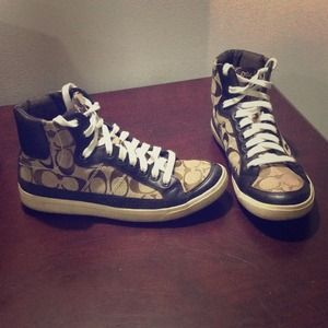  S O L D Coach Hightop Sneakers  S O L D 