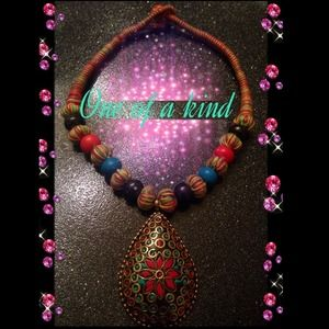 "🌟""One of A Kind"" Statement Tribal Necklace 🌟"