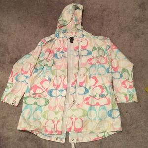 Vintage coach scribble jacket size small