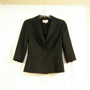 Black pinstripes blazer