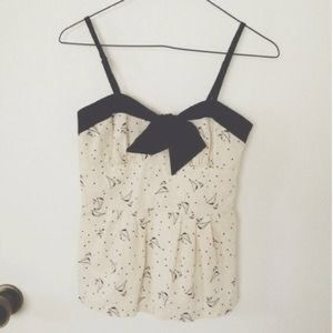 Urbanoutfitters sailboat top with black bow