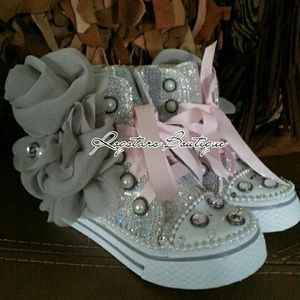 Little girls high top sneakers (baby shoes)