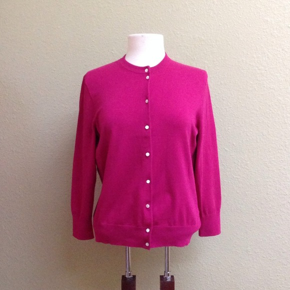 J. Crew - J. Crew fuschia pink cardigan sweater looks NEW! from ...