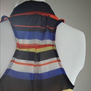 Nordstrom Tops - Ocean Breeze - Multi Colored Stripes Top