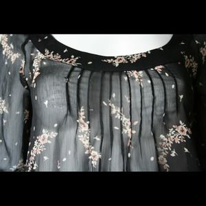 Nordstrom Tops - 💫 Markdown!! Black Japanese Cherry Blossoms Top