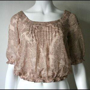 Markdown! Nude Top with Exposed Shoulders