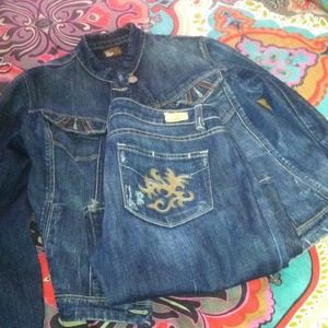 Authentic Paige Jean jacket and jeans