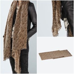 Zara Accessories - Zara Leopard Print Scarf
