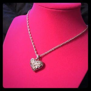 Chico's Jewelry - Jeweled Heart Pendant
