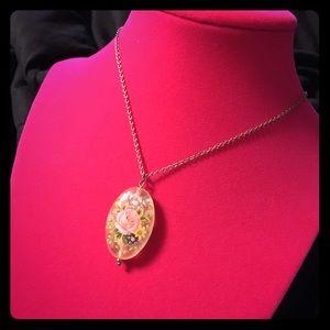 Jewelry - Vintage Glass Pendant
