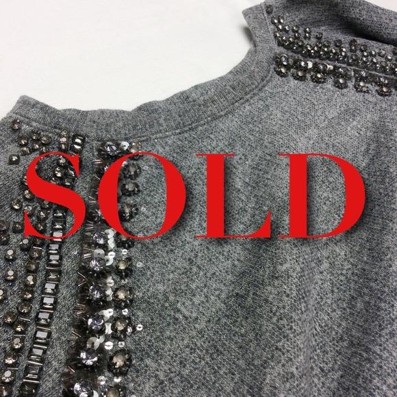 56% off J. Crew Sweaters - J. Crew Collection Embellished Raglan ...