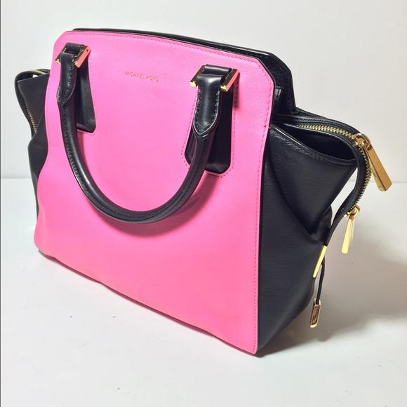 acbcd4c04982ba Michael Kors Bags   Sale Miranda Colorblock Leat Sat   Poshmark