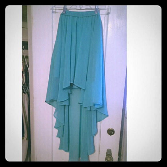 42 forever 21 dresses skirts turquoise high low