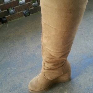 Shoes - Tall Tan suede boots