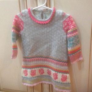 Baby Benetton baby girl dress Sz 9mos-12mos