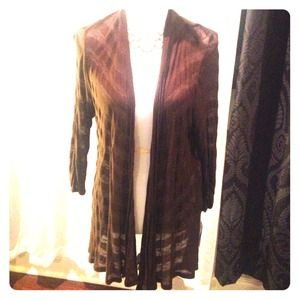 NWT- Chocolate striped cardigan