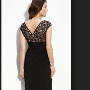Adriana papell lace shutter pleat dress