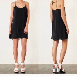 Topshop black shift dress