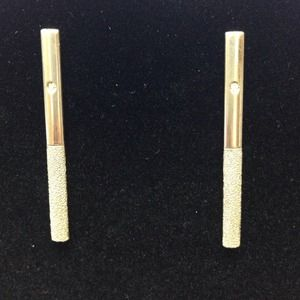 Sterling silver bar  shaped earring