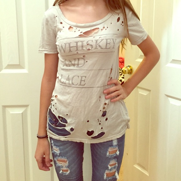 basketball red and white size medium FREE SHIP- Restyled Nebraska upcycled crop top shirt grunge distressed style bleach splatters
