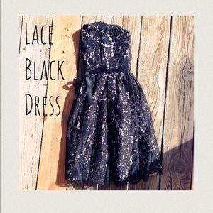 Robert Rodriguez Dresses & Skirts - Neiman Marcus Romantic Black Lace/Tan Lining