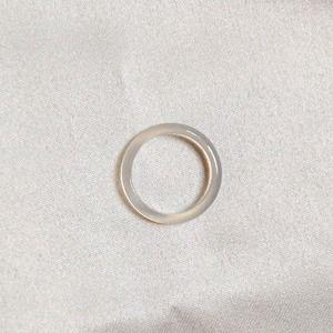 Jewelry - Agate Gemstone Ring- Clear