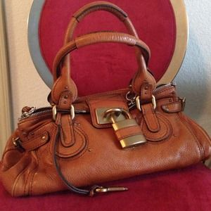 Authentic Chloe paddington brown leather bag