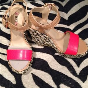 Just Fab Platforms in Red, Black, Tan and Gold