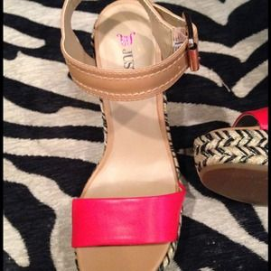 JustFab Shoes - Just Fab Platforms in Red, Black, Tan and Gold