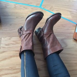 Zara Shoes - Zara Trafaluc brown harness boots
