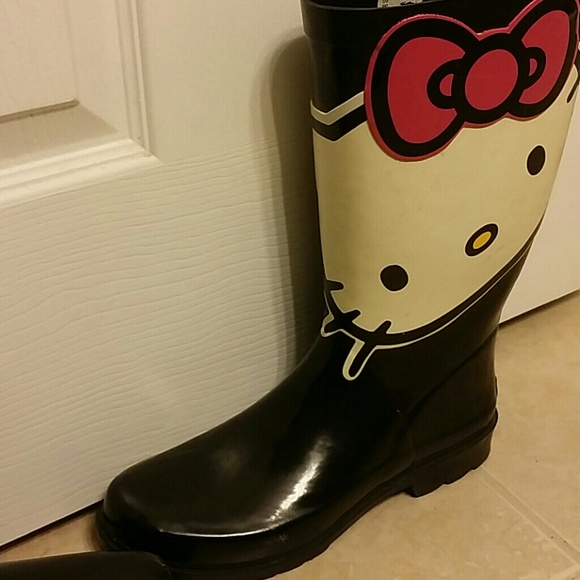 83% off sanrio Boots - Hello kitty rain boots size 9 womens from ...