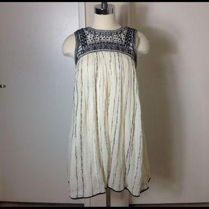 Free People Aztec Bib Dress