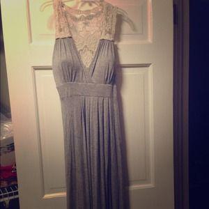 Heather Gray Maxi Dress