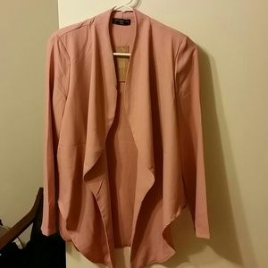 NEW Pink buttonless blazer cardigan M