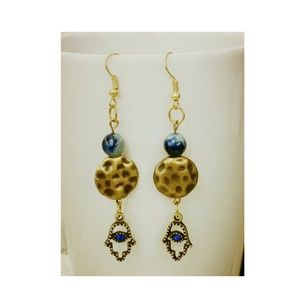 Jewelry - Earrings Gold and Blue