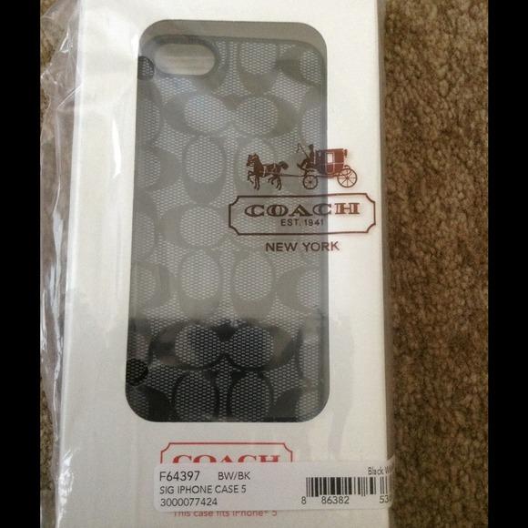 Coach Accessories - Coach iphone 5 case
