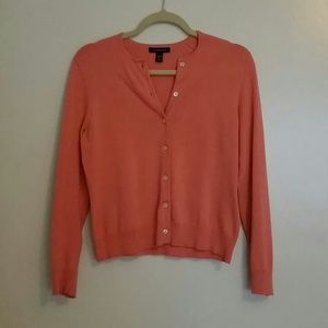 Lands end pink sweater cardigan