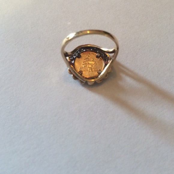 lowered price of 10k gold panda ring 5 5 from s