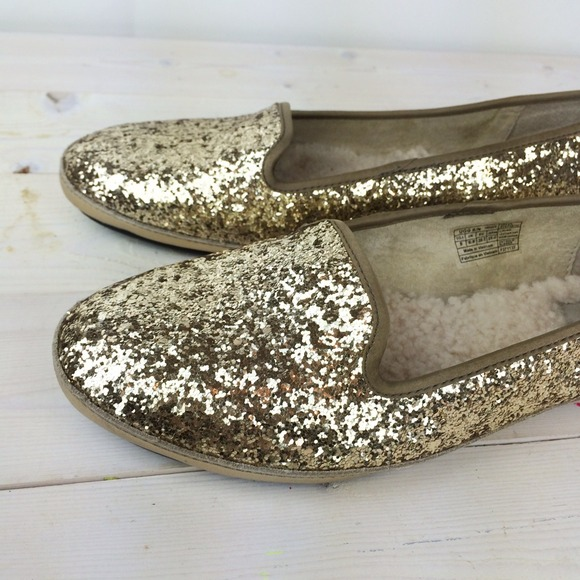 UGG Shoes - UGG Gold Glitter Loafers